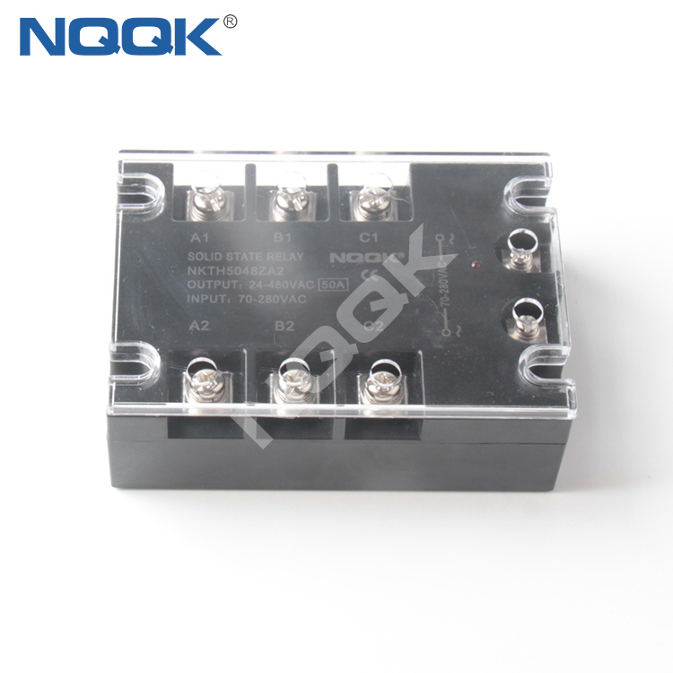50A AC To AC 3 Three Phase SSR Solid State Relay
