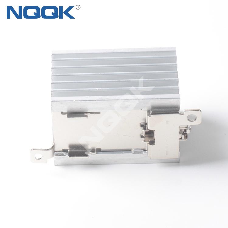 D-74 aluminum heat sink / heatsink heat sink with DIN Rail Mounted