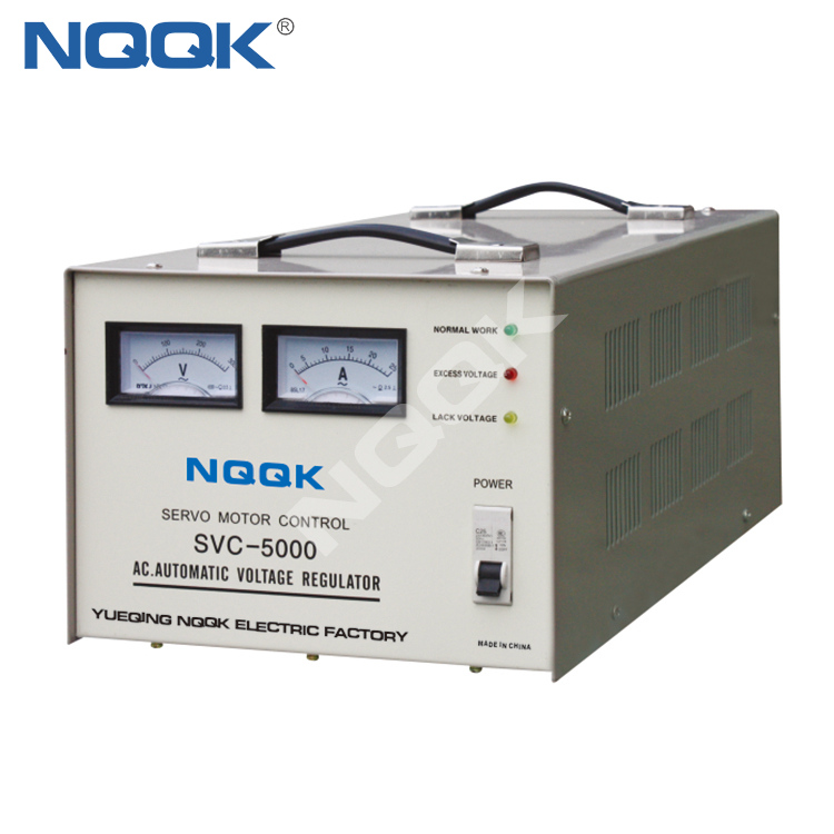 SVC 5KVA Desk Type 1 Servo Type 1Phase Series Voltage Stabilizer Regulator