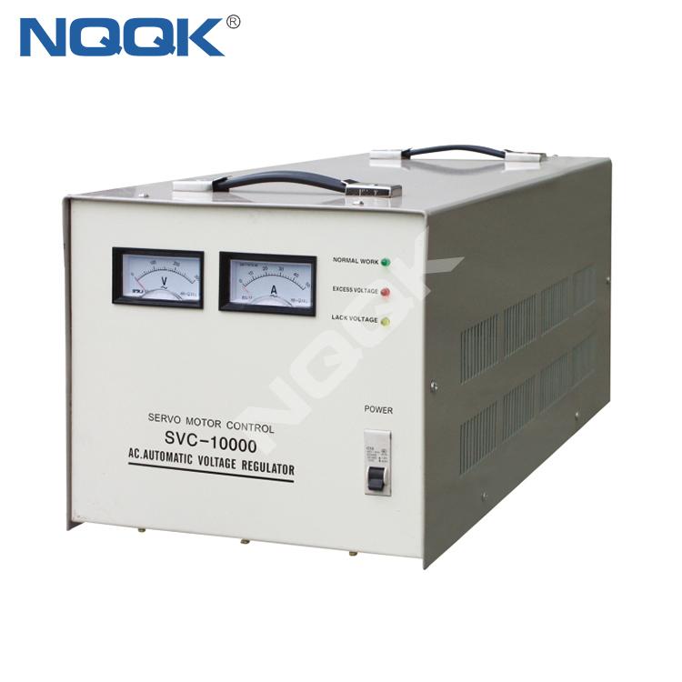 SVC 7.5KVA / 10KVA (Desk Type No.2) Servo Type 1Phase Series Voltage Stabilizer Regulator