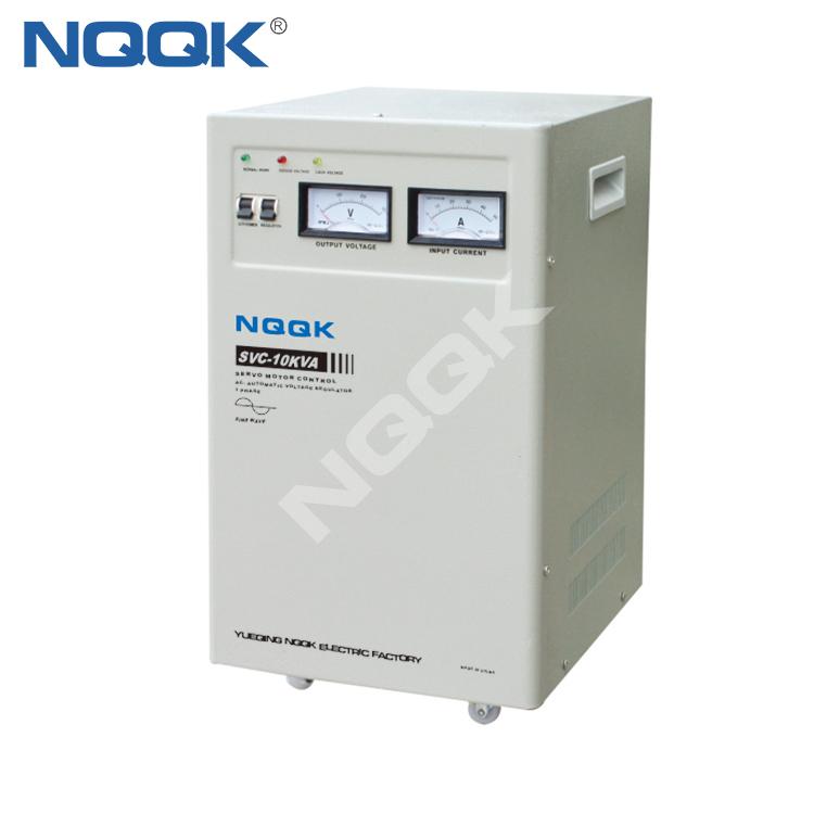 SVC 7.5KVA / 10KVA (Vertical Type) Servo Type 1Phase Series Voltage Stabilizer Regulator