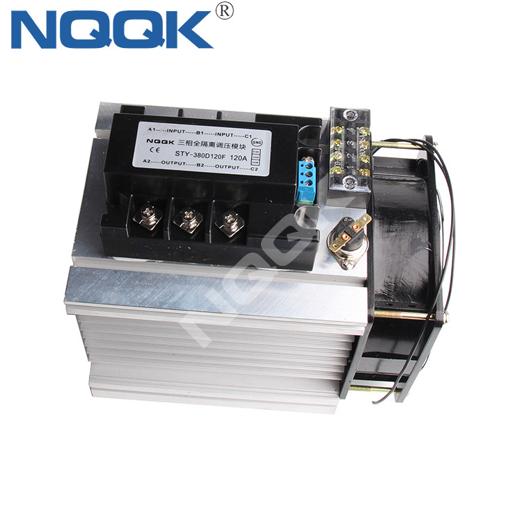 120A 0-10V control signal three phase 380VAC LA VD SSR Solid state relay with heat sink